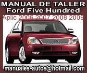 Ford Five Hundred 2007 2008 Manual De Reparacion