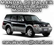 Mitsubishi Pajero-Montero 2001 2002 – Manual de reparacion y taller