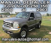 Ford F-250 350 2000 al 2003  Manual De Servicio y Reparacion