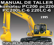 1995 komatsu PC200 200LC-6 PC220 220LC-6 Manual de Taller