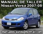 Nissan Tiida Versa 2010 2011 Manual de Reparación Automotriz Mecanico