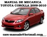 Toyota Corolla 2009 2010 Manual De Mecanica